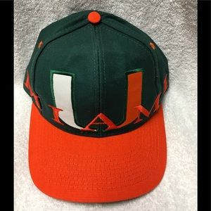 University Of Miami Mascot Orange Green Hat